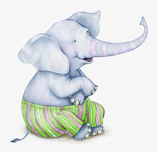 Painted Elephant PNG