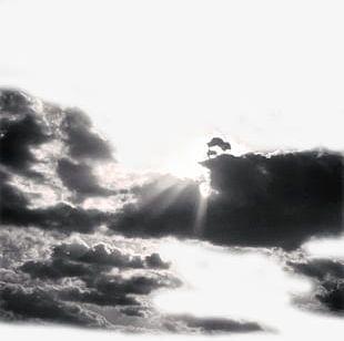 Sunlight Breaking Through Dark Clouds PNG