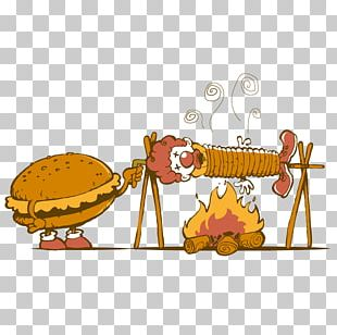 Hamburger French Fries Fried Chicken McDonalds Illustration PNG
