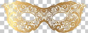 Gold Carnival Mask PNG
