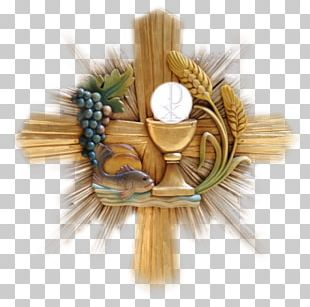 Eucharist First Communion Religion Holy Card PNG