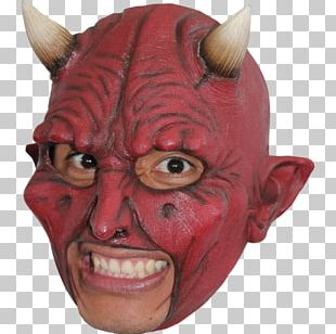 Latex Mask Costume Party Devil Halloween Costume PNG