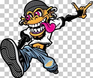 Skateboarding Graffiti Drawing PNG