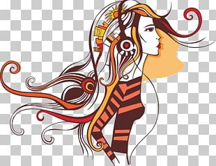 Woman Drawing Girl Illustration PNG