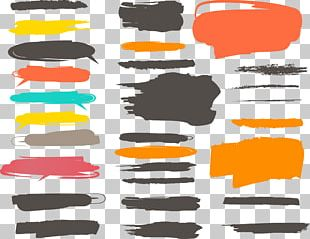 Ink Brush Paint Color PNG