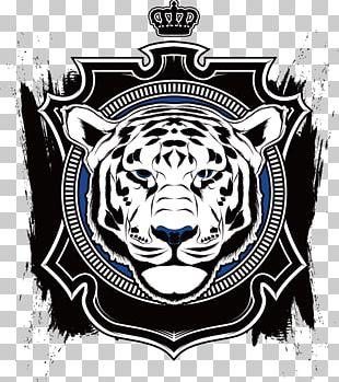 T-shirt Bengal Tiger Crown Logo PNG