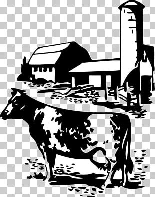 Dairy Cattle Milk Farm Silhouette PNG