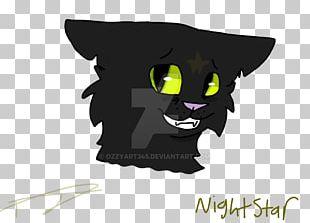Whiskers Black Cat Snout PNG