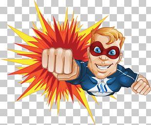 Superhero Cartoon Sweetie Vents PNG