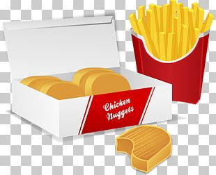 Chicken Nugget French Fries Fried Chicken Fast Food PNG