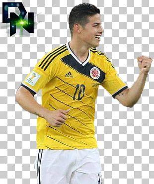 James Rodríguez 2014 FIFA World Cup Jersey Sport T-shirt PNG