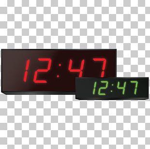 Radio Clock Display Device Digital Clock Product Design PNG