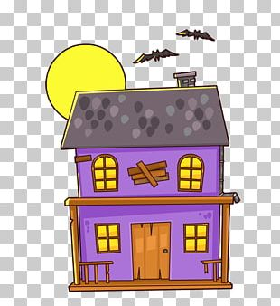 Haunted Attraction House Cartoon PNG