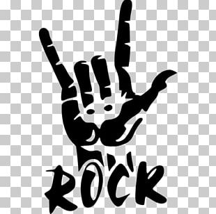 Stencil Rock And Roll Poster Music PNG