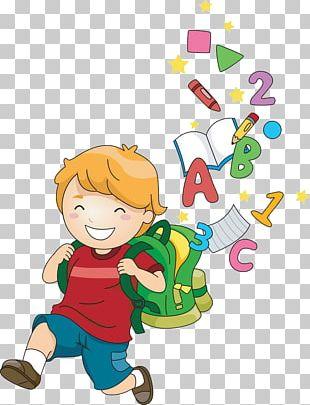 School Child Cartoon PNG