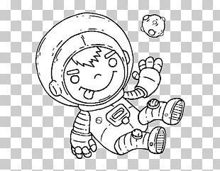 Drawing Coloring Book Astronaut Child Outer Space PNG