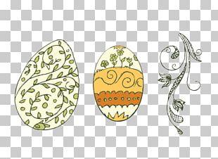 Egg Tart Easter Egg Illustration PNG