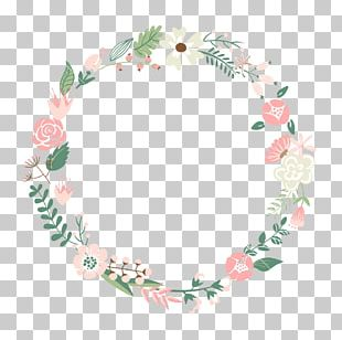 Flower Frame Wreath PNG