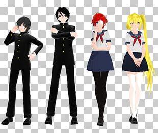 School Uniform Black Hair Outerwear Costume PNG