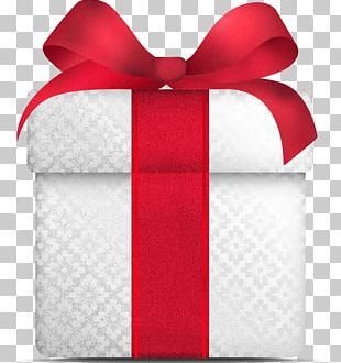 White Gift Christmas PNG