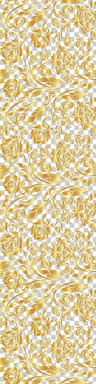 Golden floral design png