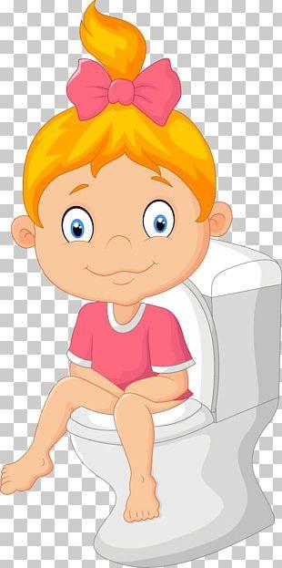 Diaper Toilet Training Cartoon PNG