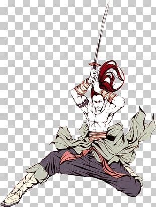 Japan Watercolor Painting Samurai PNG