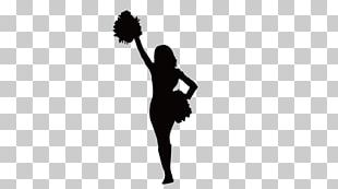 Sticker Cheerleading Decal Black And White PNG