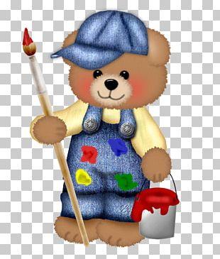 Bear Cartoon Painting Illustration PNG