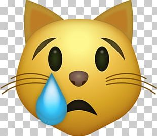Cat Face With Tears Of Joy Emoji IPhone Smile PNG