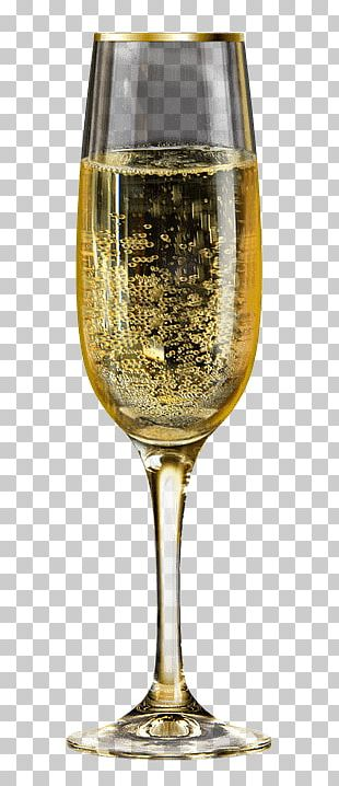 Glass Of Champagne Bubbles PNG