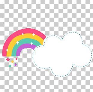 Rainbow Cloud Document File Format Cartoon PNG