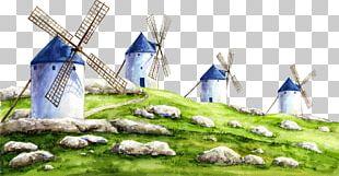 Windmill Painting Diamond PNG