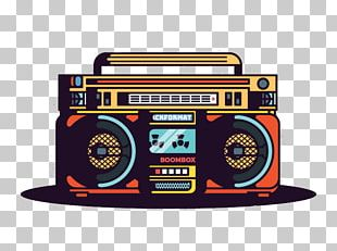 Boombox Graphic Design Radio PNG