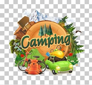 Camping Adventure Illustration PNG