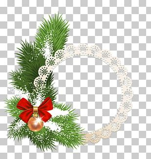 Christmas Ornament Frames Santa Claus Christmas Tree PNG