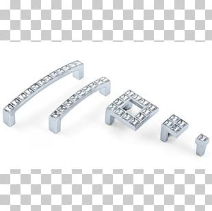 Drawer Pull Single Crystal Alloy Handle PNG