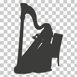 Silhouette Harp Musician Musical Instruments PNG
