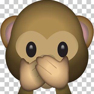 Emoji Three Wise Monkeys The Evil Monkey Sticker PNG