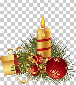 Christmas Ornament Candle Map Post Cards PNG