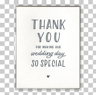 Greeting & Note Cards Letter Of Thanks Wedding Paper PNG
