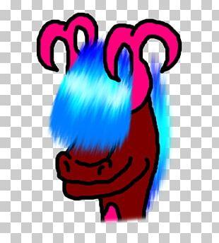 Cartoon Pink M Character PNG