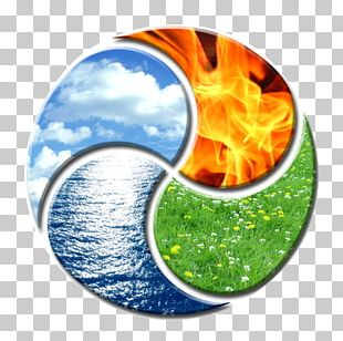 Classical Element Earth Water Air Yin And Yang PNG