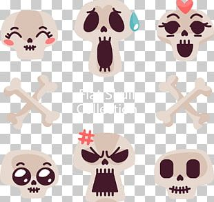 Facial Expression Emotion Skull Icon PNG