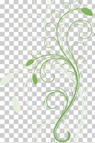 Floral Design Green Flower PNG
