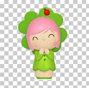 Green Cartoon Character Dolls PNG