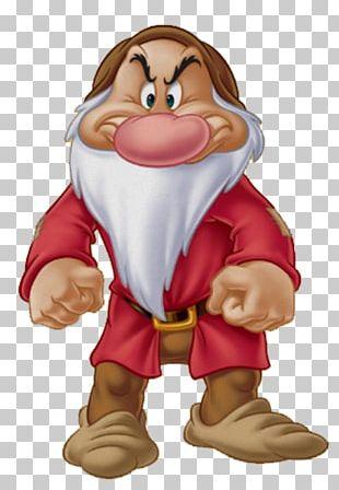 Snow White Seven Dwarfs Grumpy Dopey Bashful PNG