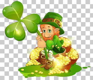 Saint Patrick's Day Leprechaun Shamrock Lettering PNG