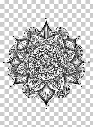 Mandala Tattoo Black-and-gray Mehndi PNG