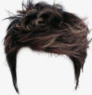 Short Hair Wig PNG